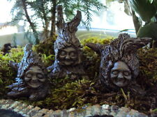 "MINIATURE GARDEN ""SET OF 3 TREE SPRITES"" NEW (HOBBIT, GNOME, FAIRY, ELF)"