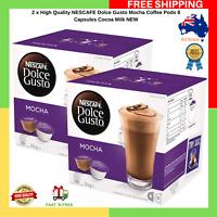 2 x High Quality NESCAFE Dolce Gusto Mocha Coffee Pods 8 Capsules Cocoa Milk NEW