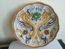 PIATTO CERAMICA DERUTA 25 cm raffaellesco grottesco ceramic dish porzellan