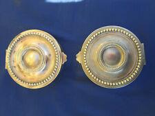 2 bouches aérations grilles rondes ventilations laiton Diamètre 12 cm ancienne