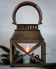 broste Copenhagen - große Laterne Windlicht OLE Messing Holz Vintage Antik