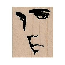 Mounted Rubber Stamp, Elvis, The King, Elvis Profile, Elvis Silhouette, Rock