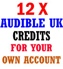 12x Audible UK Credits for your Existing Account