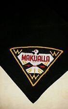 Rare BSA Order of the Arrow MAKUALLA Lodge 437 Neckerchief Black