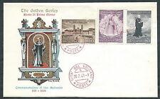 1961 VATICANO FDC GOLDEN S. MEINRADO NO TIMBRO DI ARRIVO - SV12