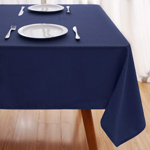 Vailge Table Cloth Rectangular Table Cloths Water Resistant Tablecloth,Blue Grey