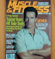 Muscle & Fitness Magazine August 1991 Arnold Schwarzenegger NO ML