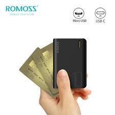 Cargador portátil 10000mAh ROMOSS Banco de la energía 2-USB Batería externa de carga rápida