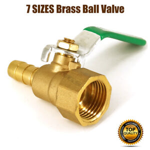 UK Brass Ball Valve Lever Handle BSP Female hose Connector Various Sizes