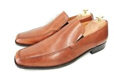 LOAKE L1 Harry Mokassin Loafer Herrenschuhe Apron Cognac Braun Leder UK 10 Gr 44