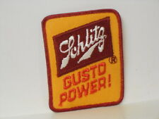 "Vtg. Promotional Schlitz Beer ""Gusto Power !"" Patch"