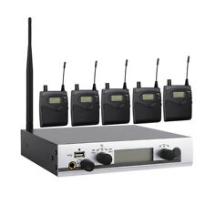 UHF Wireless In Ear Monitor System Monitoring Headphones w/5 Bodypack Receivers