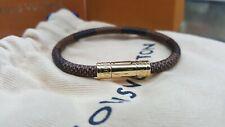 Louis Vuitton Damier Graphite Brassle Digit BC1117 Bracelet