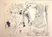 PABLO PICASSO HAND SIGNED SIGNATURE * SERIES: HIS RECENT DRAWINGS * PRINT