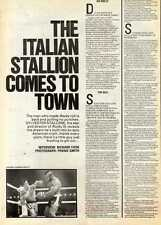24/7/82PGN24 ARTICLE & PICTURES : SYLVESTER STALLONE (ROCKY III)
