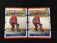 (2) ERIC LINDROS ROOKIES 1990 SCORE FUTURE STARS RC HOCKEY CARDS