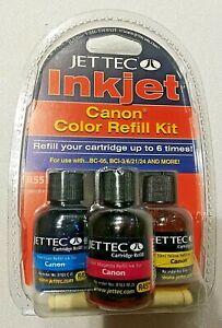 Jettec Inkjet Refill Kit For Canon & Brands All Purpose Multi-Color Ink Sealed