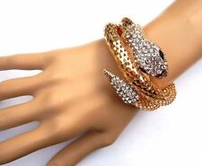 GOLD COILED SNAKE BRACELET cuff bangle serpent Egyptian wrap boa asp NEW 6W