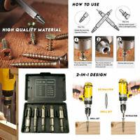 5Pcs/Set 55.3mm HSS Mintiml Screw Bolt Drill Bit Extractor Set Easy Out Tools