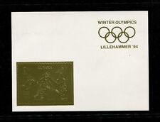 Guyana1993 Olympics/Soccer/Skiing Michel BL 311-12 Imperf Sheetlets LILLEHAMMER
