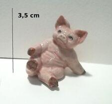 cochon miniature en porcelaine, collection, pig,varken,cochonne  G31-11