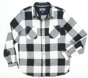 NWOT AMERICAN RAG VINTAGE WHITE ADAM CHECK NEPTWEED FLANNEL BUTTON DOWN SZ M