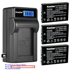 Kastar Battery LCD Wall Charger for Kodak KLIC-5001 Kodak EasyShare Z760 Camera