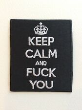 D197 // ECUSSON PATCH AUFNAHER TOPPA / NEUF / KEEP CALM AND FUCK YOU 7*8 CM