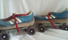 Vintage Roller Derby Shoe Skates / Roller Disco / 1970's-80's / Blue & white red