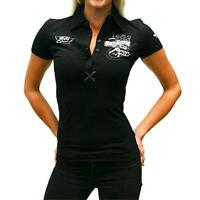 FORD RACING MUSTANG FALCON POLO SHIRT T-SHIRT GIRLS KIDS LADIES EMBROIDED 6 8