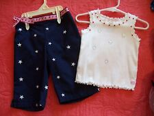 Baby Pageant Patriotic Casual Wear ,OOC ,2 Pc. Stoned Sz. 12-24 Mts. Adorable!