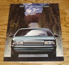 Original 1996 Chevrolet Caprice Classic Sales Brochure 96 Chevy