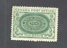 Canada 1898 SPECIAL DELIVERY SCOTT E1b/E1ii YEL-GRN NO SHADING MINT (BS19973)