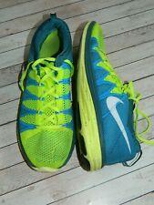 Mens Nike Flyknit Lunar2 Running Trainers Volt Blue 620465-714 Size UK 8.5 EU 43