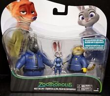 Disney Zootropolis OFFICERS JUDY HOPPS, McHORN & CLAWHAUSER Poseable New! 3 Pack
