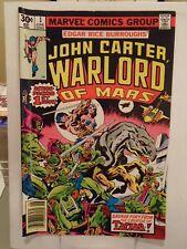 Marvel JOHN CARTER WARLORD OF MARS #1 (1977) 1st Appearance of John Carter