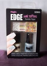 Fingrs Fing'rs Edge nail tattoos map zigzag 2 mini bottles nail polish set NIB
