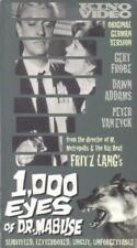 VHS: 1000 EYES OF DR. MABUSE........GERT FROBE-DAWN ADAMS........SUBTITLED