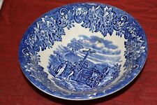 Vtg English Ironstone Tableware Blue Dickens Series 6.25 inch Cereal Bowl