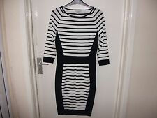 H&M Knee Length Stretch, Bodycon Striped Dresses for Women