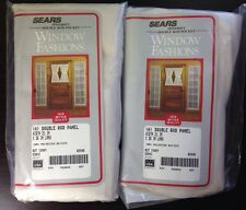 Sears Lot of 2 Spindrift Double Rod Pocket Ivory Curtain Panels NEW 21 x 36