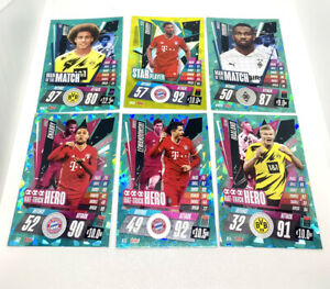 Match Attax Bundesliga Lot Hat-Trick Hero - Star Player - Haaland - Gnabry Cards