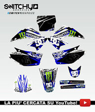 KIT ADESIVI GRAFICHE ROCK CAMO BLUE HONDA CR 125 250 2002 DECALS DEKOR