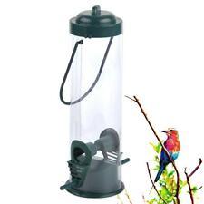 Clear Hanging Wild Bird Seed Feeder Squirrel Perch Garden Outdoor Feed Cage Li