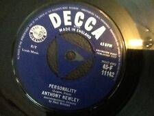 ANTHONY NEWLEY . PERSONALITY / MY BLUE ANGEL . 1959 . Excellent vinyl TRI CENTRE