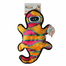 """LM Invincibles Orange & Yellow Gecko Dog Toy 2 Squeaders - 13"""" Long"""