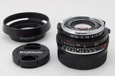 MINT Voigtlander Color Skopar 35mm f/2.5 MC Black for Leica L w/Food Japan #Z150