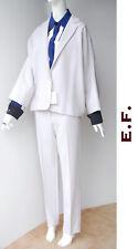 🔷 MAX MARA Suit Jacket & Pants 12USA 46IT 14GB Stretch Virgin Wool in Grey