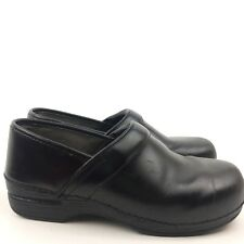 Dansko Xp Woman Clogs Size 41 10.5-11 Men 7.5  Black Leather Closed Back Nursing