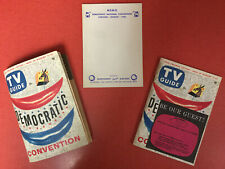 1956 TV GUIDE August 11-17 Democratic National Convention 2 COPIES & MEMO Pad!